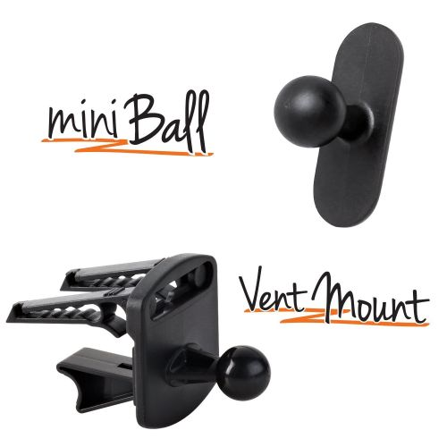 17mm miniBall mount and Vent mount