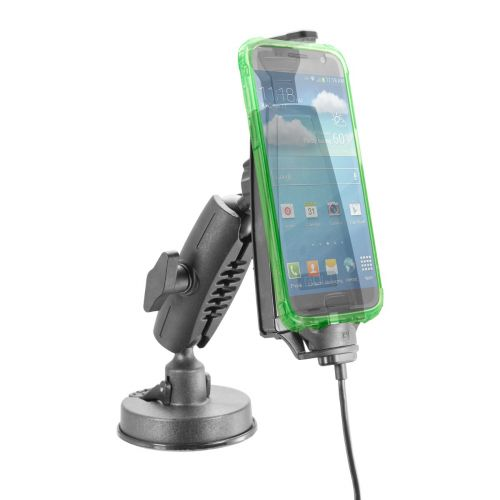 iBOLT mProNFC microUSB Bizmount Phone Holder/Mount w/Heavy Duty Suction Cup and Integrated Charging Cable