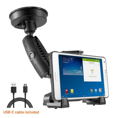 iBOLT xProDock NFC Bizmount - Phone Holder/Mount with Heavy Duty Suction Cup Base and 1.5m USB-C Cable