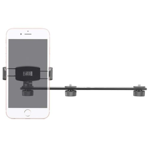 3 Camera Slide Bar with Phone Holder - 10 inch