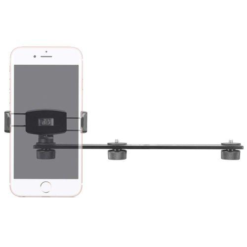 3 Camera Slide Bar with Phone Holder - 10 inch